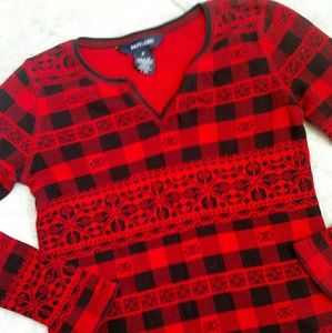 Ralph Lauren Buffalo Plaid Top EUC M